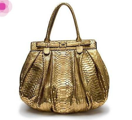 Elite Handbag: Metallic Python Handbag