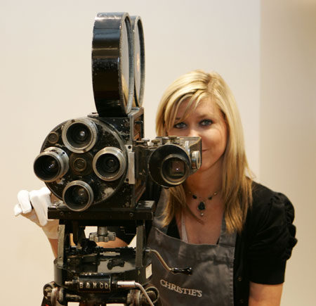 Charlie Chaplin's personal movie camera for $140,000 – $180,000