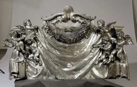 Silver Metal Headboard at Christie's New York auction