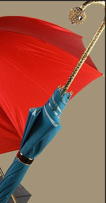 It's raining bling at Pasotti' Swarovski encrusted Umbrellas