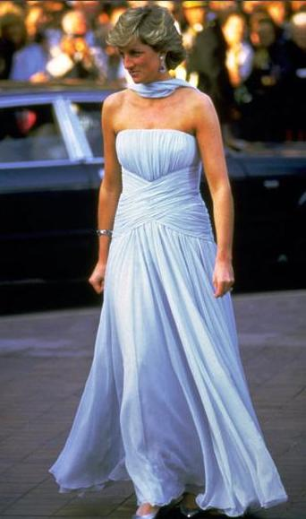 Princess Diana's dress for auction at ebay, Starting bid $125,000
