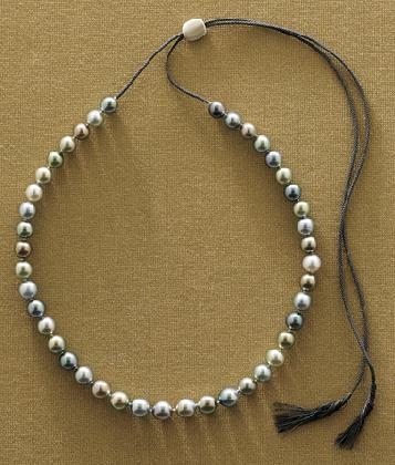 Tahitian Pearl Slide Necklace
