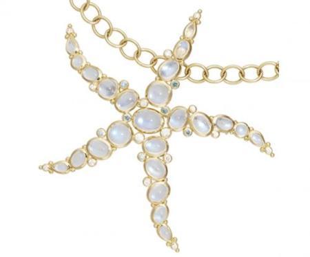 Blue Moonstone Starfish Pendant