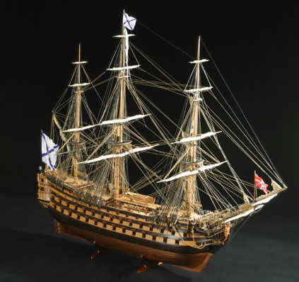 """Three Hierarchs"": Luxurious Ship Model"