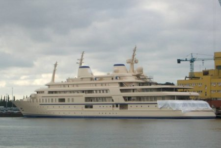 World's Second Largest Yacht Launched: 155-Meter Sunflower