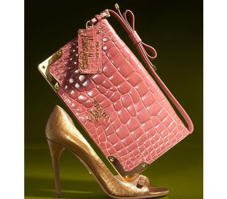 prada black nylon wallet - Affordable\u0026quot; Prada Croc Clutch and d\u0026#39;Orsay Croc Pump