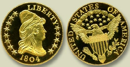 1804 Eagle Gold Coin Sold For $5 Million