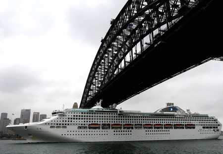 Sun Princess Ports at Sydney Harbour Bridge