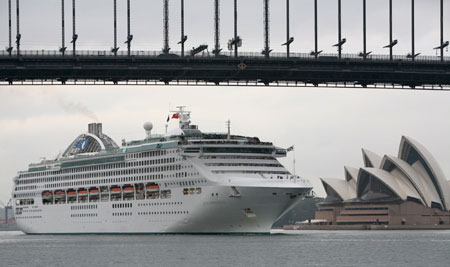 cruise sunprincess Sun Princess Ports at Sydney Harbour Bridge