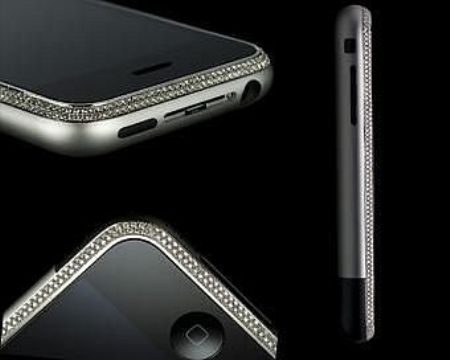 Diamond Crusted Apple iPhone