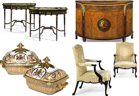 Luxurious English Furniture & Ceramics at Christie's