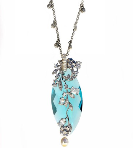 Timeless and Seasonless: Aqua Clara Necklace