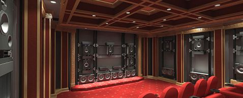 $300K Goldmund's Media Room Flaunts 128 Speakers