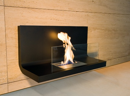 Modern fireplace: Radius Design