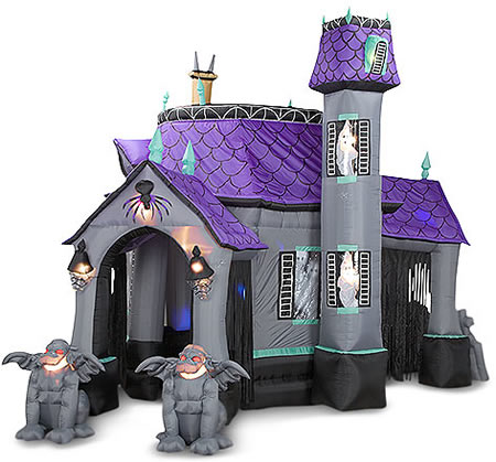 Dreadful Delight: Inflatable Cryptic Halloween Castle