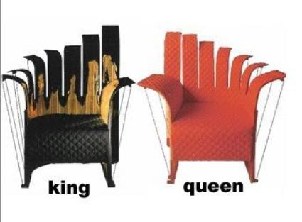 Pesce Nobody's Royal Armchairs: Only for King and Queen