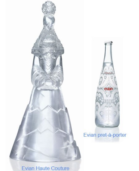 Evian Limited Edition Water Bottle by Christian Lacroix