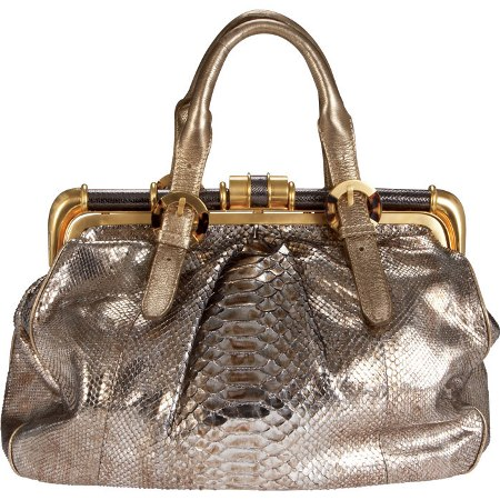 Elite Handbag: Metallic Python Doctor Bag