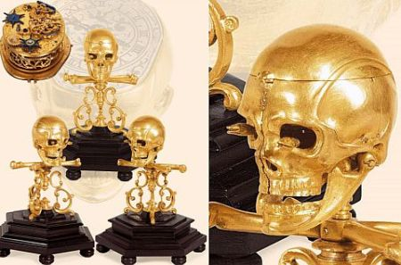 400-Year-Old Skull & Crossbones Automaton Clock
