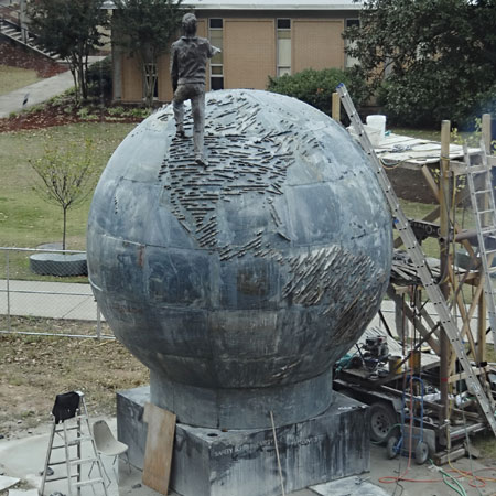 Sculptor Resurrects $1mn Stone Sculpture: Spaceship Earth