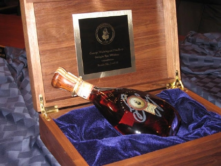 $35,000 Winning Bid for Bush Signed Whiskey
