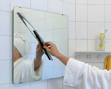 Mirror with Windshield Wiper: For Your Unconscious Need