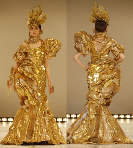 $1.2 million Outfits Woven with Gold Coins