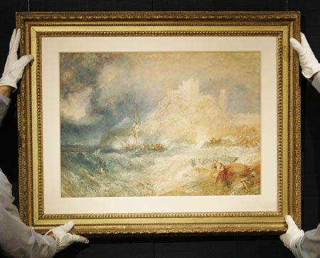 'Lost' Turner Bamborough Castle Eyes Sotheby's
