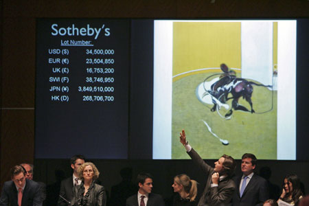 Big Sales of Bacon Paintings Set Sotheby's Record, Fetched $315.9 mn