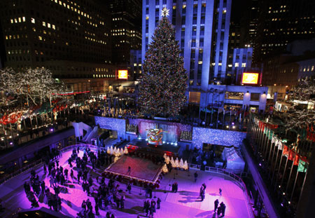 Elite Celebration: 84-foot Shelton tree Lights Up Rockefeller Center
