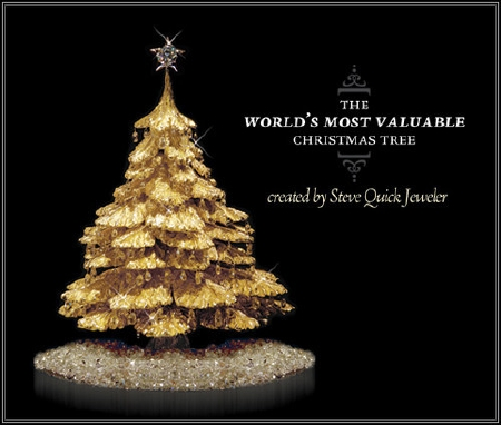 Steve Quick Unveils Gold and Diamond Christmas Tree
