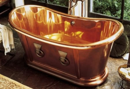 Archeo Copper Bathtub, Bath Set & Handshower Dipped in Luxury
