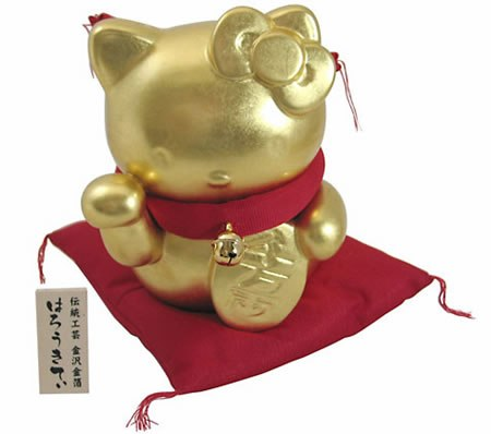 Hello Kitty Gold Coin Bank Wish You Luck
