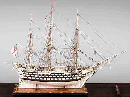 Bones and Human Hair Made HMS Victory Ship Model to fetch $60,000