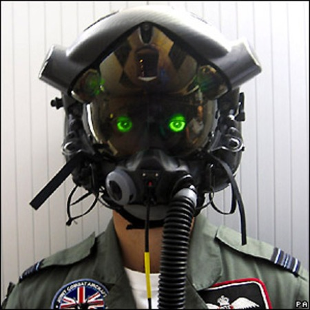 Scary Helmet: Prototype F-35 Joint Strike Fighter