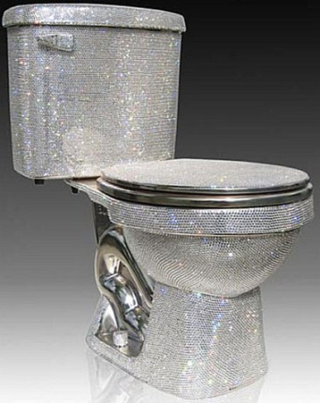 Jewel Encrusted Toilet