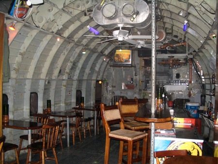 El Avion: Cargo Plane Turned Into Restaurant Cum Bar