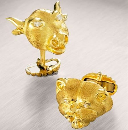 Henry Dunay Offers Bull and Bear Cufflinks