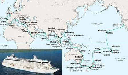 $260,000 World Cruise Via 108-Days Crystal Serenity Tour