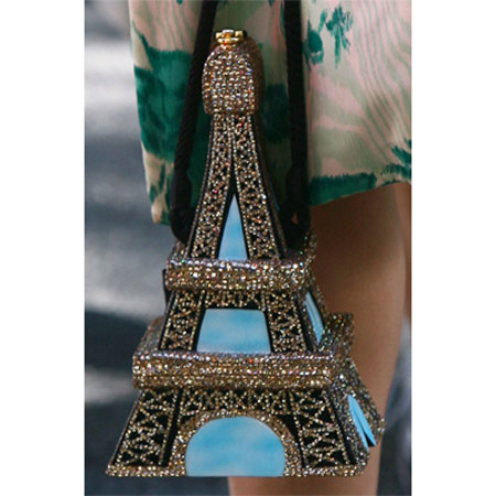 Elite Handbag: Eiffel Tower Tote with Crystals