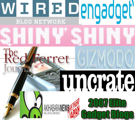 gadget Top 125 Elite Blogs