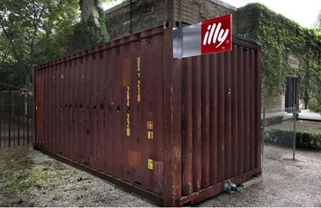 Illy Push Button House: Shipping Container Unfolds into Five-Room Abode in 90-secs