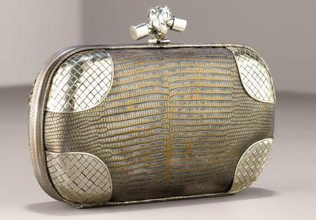 Elite Handbag: Bottega Veneta Lizard Clutch