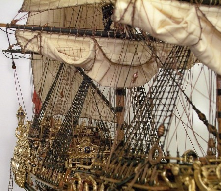 17th Century Handcrafted British WarShip Demands $18,900