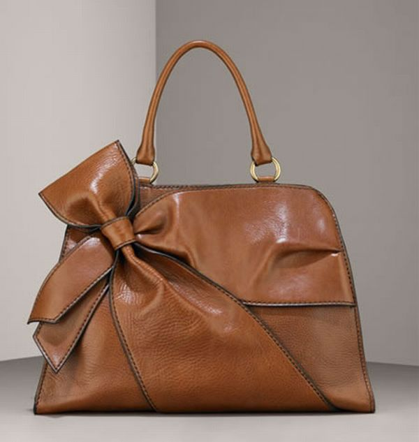 Elite Handbag: Valentino Side Bow Zip Top Satchel
