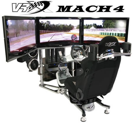 vrx mach 4 VRX MACH 4: Worlds First Quad Screen Race Simulator