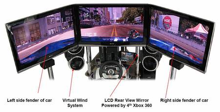 VRX MACH 4: World's First Quad Screen Race Simulator
