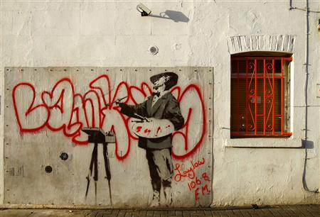 Banksy Wall Sells for $407,000 at eBay Auction