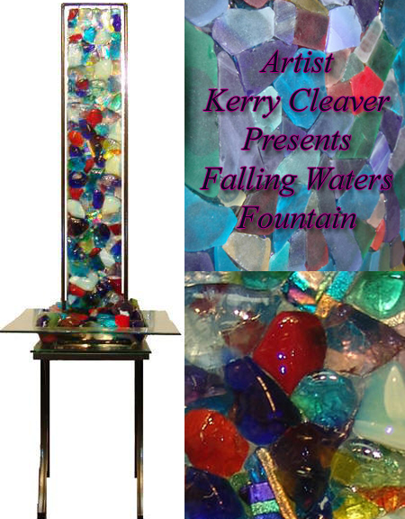 Falling Waters Fountain: Kerry Cleaver Artistic Creation