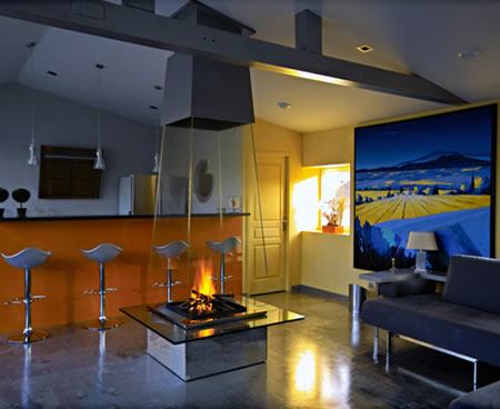 Designer Glass Fireplace by Bloch-Design